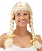 Oktoberfest pruik blond met vlechten 10050731