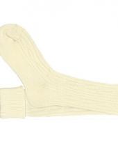 Oktoberfest sokken creme voor dames