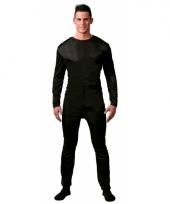 Onderkleding verkleed suit zwart voor mannen