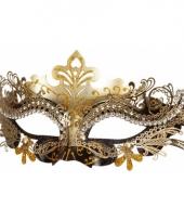 Oogmasker zwart met goud