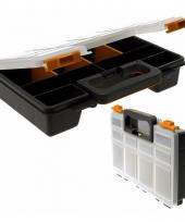 Opberg box zwart 8 vaks 29 cm