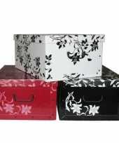 Opbergbox opbergdoos wit 52 x 38 cm