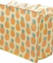 Opbergen speelgoed tas zak met ananas print 55 x 48 cm