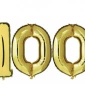 Opblaas 100 jaar ballonnen goud
