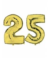 Opblaas 25 jaar ballonnen goud