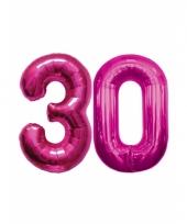 Opblaas 30 jaar ballonnen roze