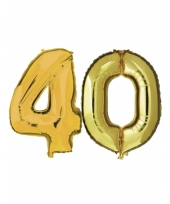 Opblaas 40 jaar ballonnen goud