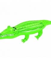 Opblaas krokodil ride on 168 cm kinderen en volwassenen