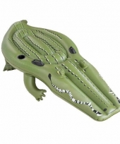 Opblaas krokodil ride on 259 cm kinderen en volwassenen