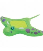 Opblaas manta rog groen ride on 150 cm kinderen en volwassenen