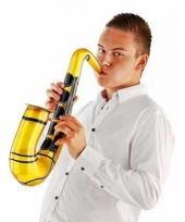 Opblaas saxofoon goud 54 cm