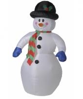 Opblaas sneeuwpop 180 cm