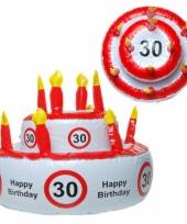 Opblaas taart 30 jaar met verkeersbord