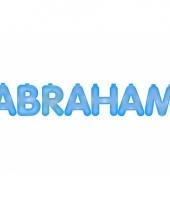 Opblaasbare abraham letters blauw