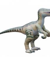 Opblaasbare bruine velociraptor 130 cm