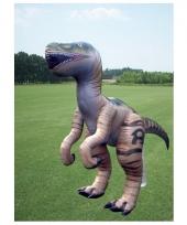 Opblaasbare bruine velociraptor 244 cm