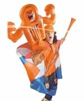 Opblaasbare hand oranje leeuw
