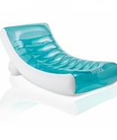 Opblaasbare ligstoel met bekerhouder