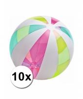 Opblaasbare neon strandballen jumbo 10 st