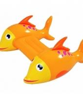Opblaasbare zwemplank met vissen