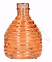 Ophangbare wespenval oranje glas 18 cm