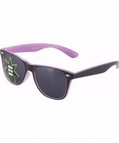 Oplichtende paarse zonnebril