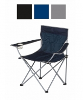 Opvouwbare campingstoelen zwart