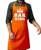 Oranje bar king keuken schort heren