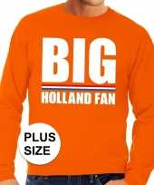 Oranje big holland fan grote maten sweater trui heren