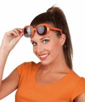 Oranje bril met donkere glazen 10032004