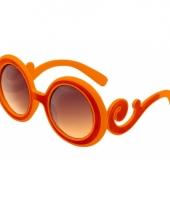 Oranje bril met krullend montuur 10046825