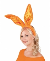 Oranje bunny oren op diadeem