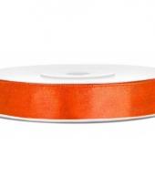 Oranje cadeaulint 12 mm