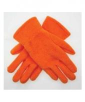 Oranje fleece handschoenen voor kinderen