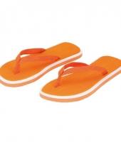 Oranje flip flop slippers voor dames 10056520