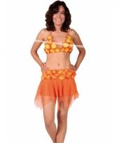 Oranje hawaii bikini en rokje