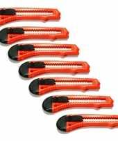 Oranje hobby messen set van 7 stuks