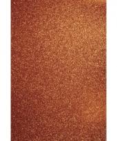 Oranje hobbykarton met glitters