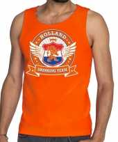 Oranje holland drinking team tankop mouwloos shirt heren
