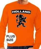 Oranje holland leeuw grote maten sweater trui heren