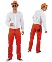 Oranje holland spijkerbroek met leeuw