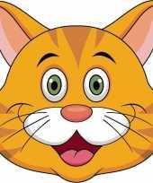 Oranje katten maskers knutselen pakket