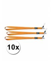 Oranje key cords sleutel hangers 10 st