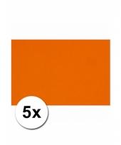 Oranje knutsel karton a4 5 stuks
