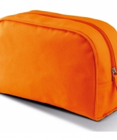 Oranje make up opberg tasje 5 liter
