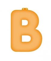 Oranje opblaasbare letter b
