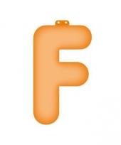 Oranje opblaasbare letter f