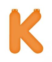 Oranje opblaasbare letter k