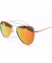 Oranje piloten vrouwen zonnebrillen model 2002