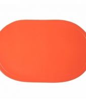 Oranje placemats ovaal